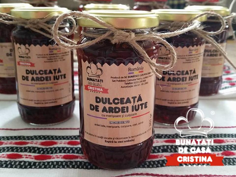 Dulceata de ardei iute cu merisoare si cuisoare (265gr)